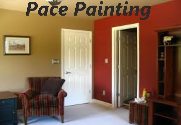 Painting walls with two main colours